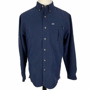 The North Face Button Front Shirt Medium Navy Blue